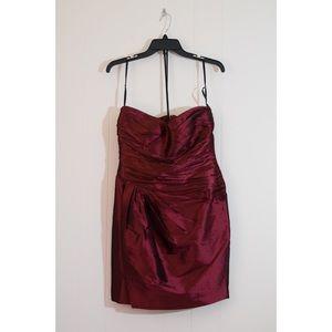 Calvin Klein Cranberry Strapless Formal Dress